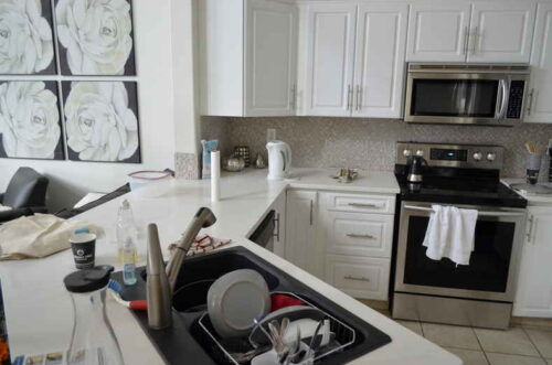 Even a few items on the counter can make a difference in the look and feel of the household.