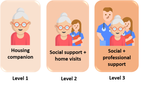 Seniors shared housing support levels