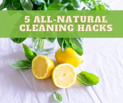 5 all-natural cleaning hacks cover